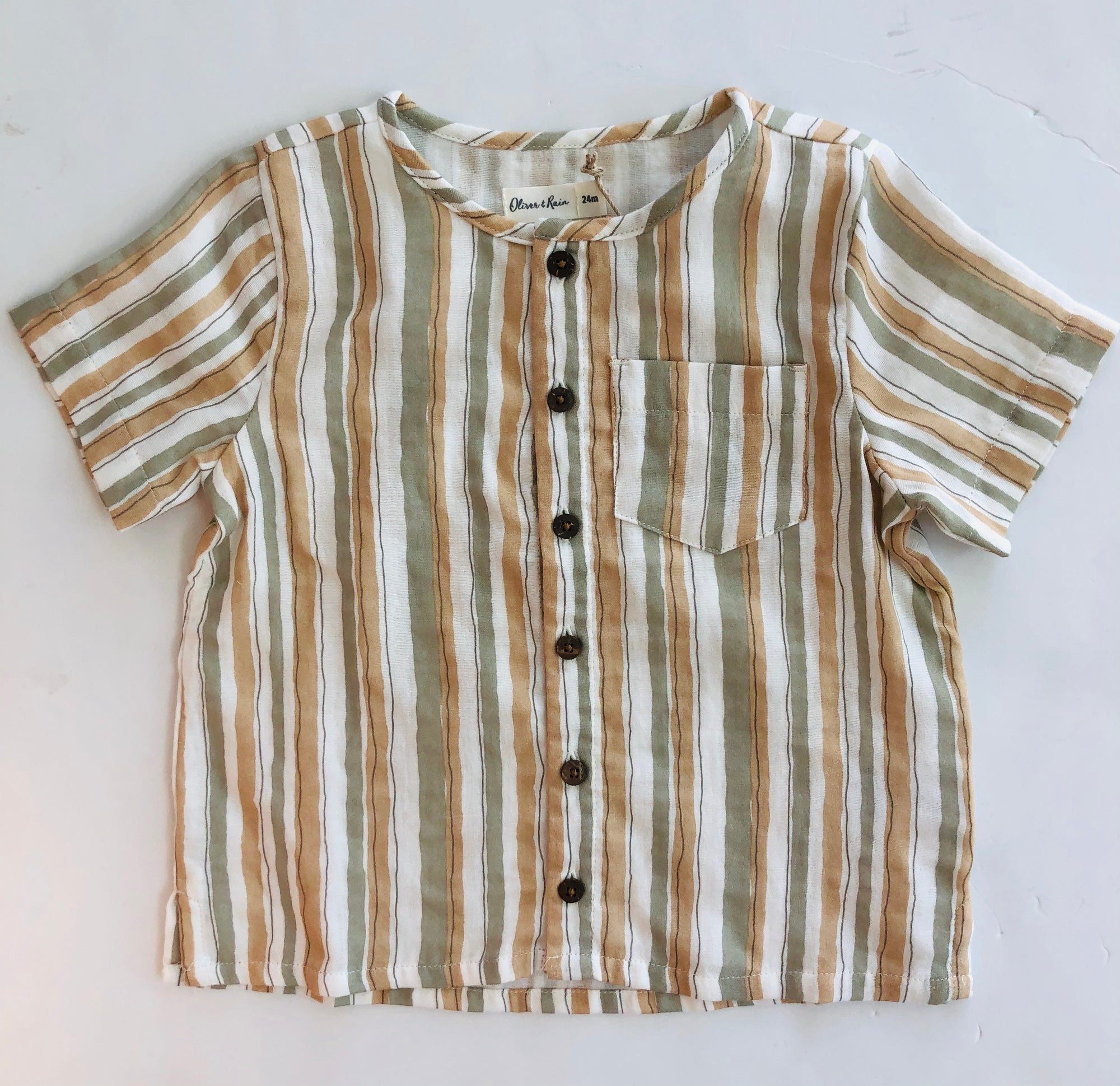 Oliver & Rain Lion Stripe Button Shirt