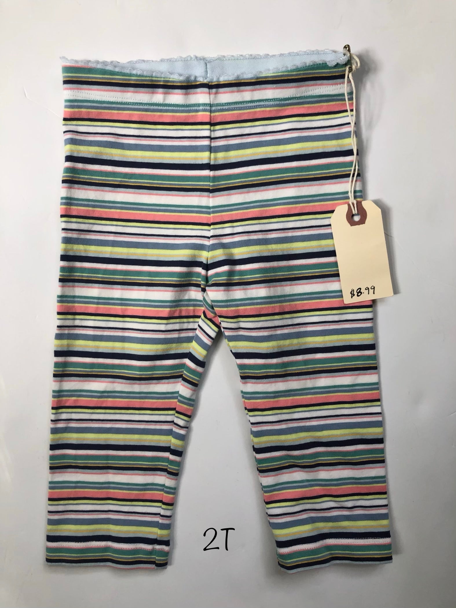 Resale 2T Tea Collection Pastel Stripe Capris