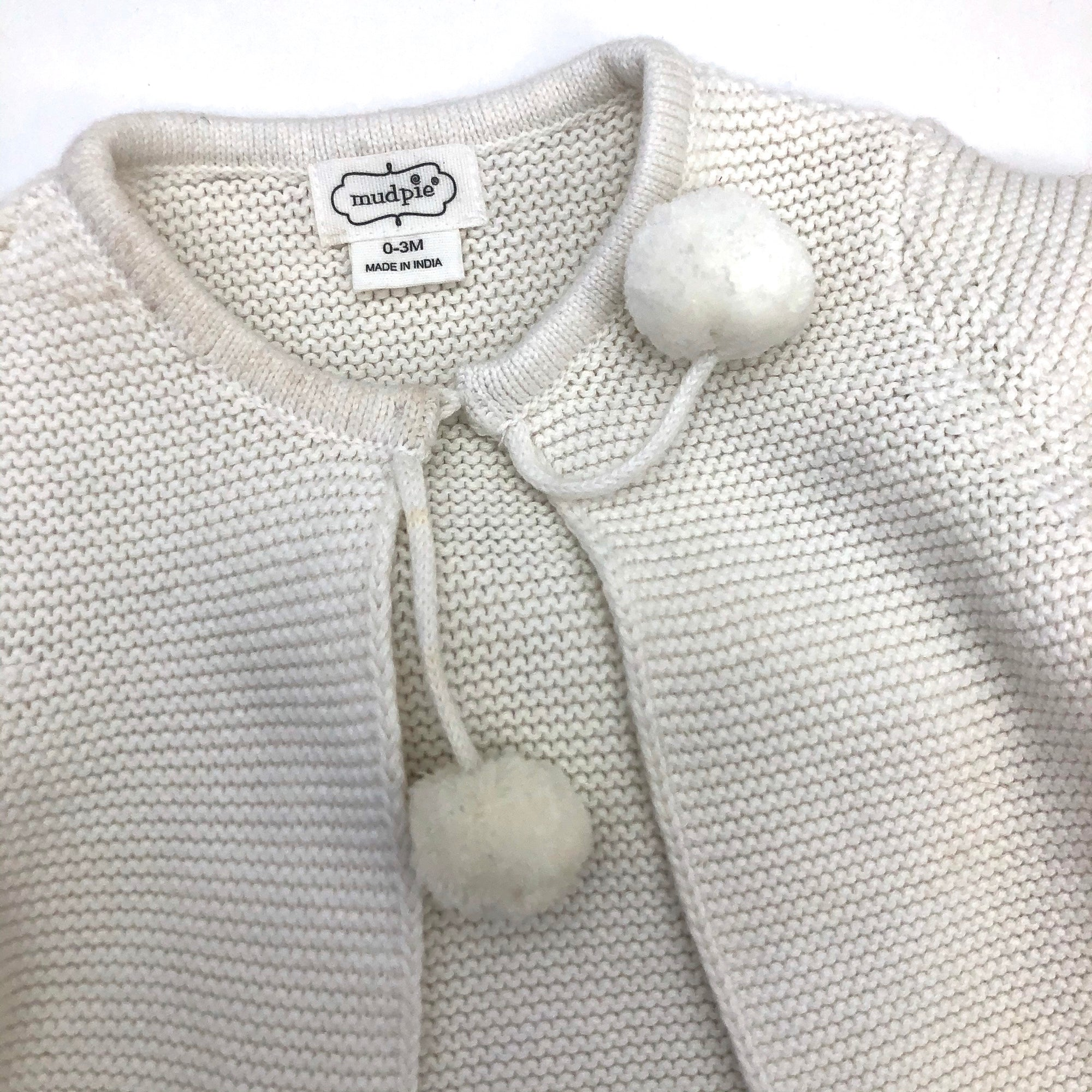 Resale 0-3 m Mudpie Pom Pom White Sweater and Pant Set