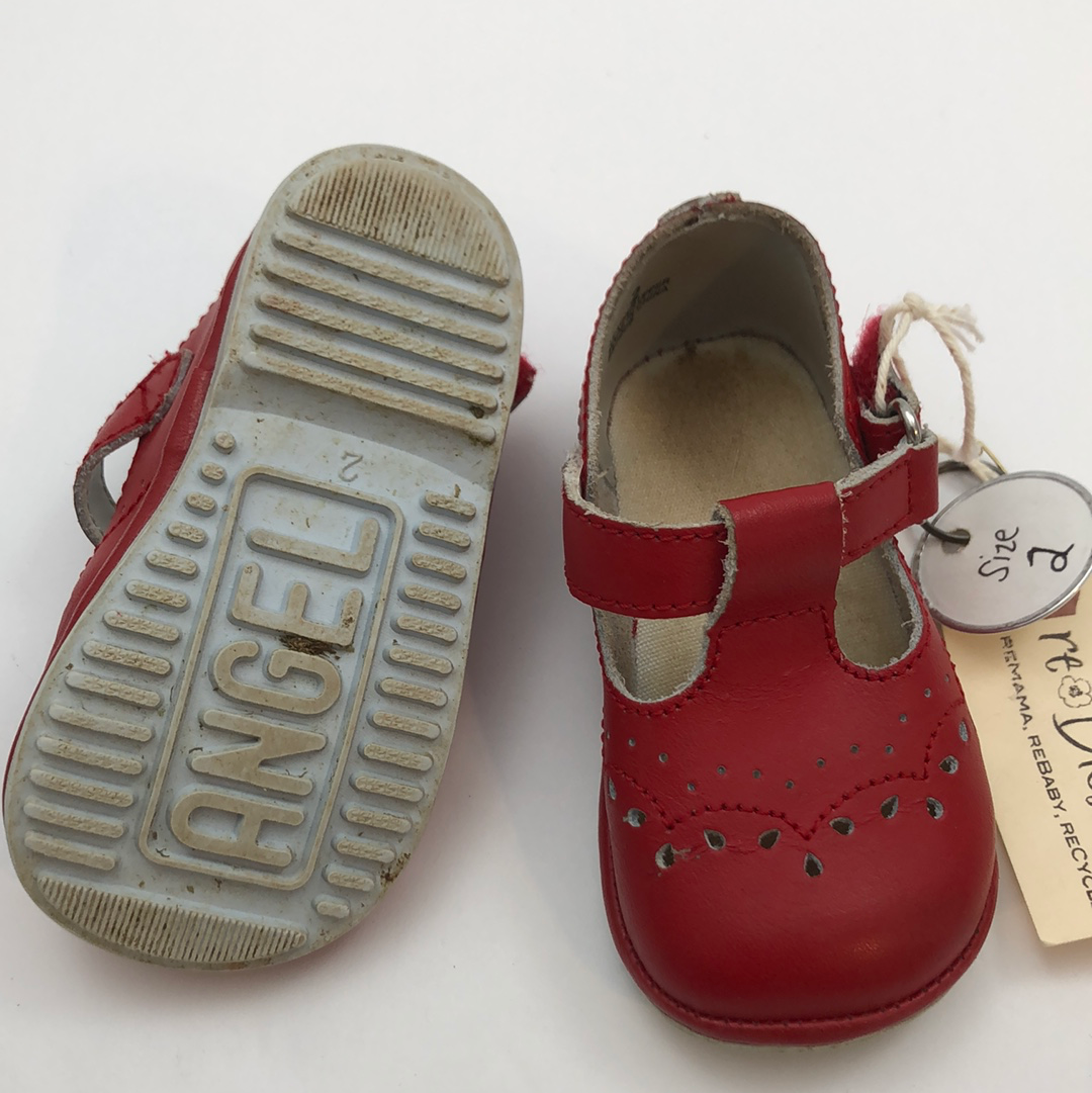 Resale C2 Angel Birdie T-Strap Shoes - Red