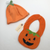 Resale 12-24 m Gymboree Pumpkin Hat & Bib Set