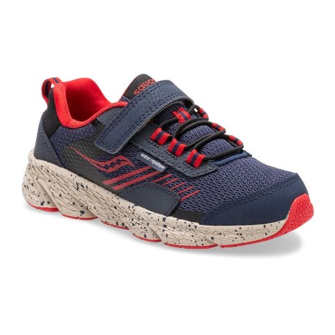 Saucony Wind Shield A/C Junior Navy/Red