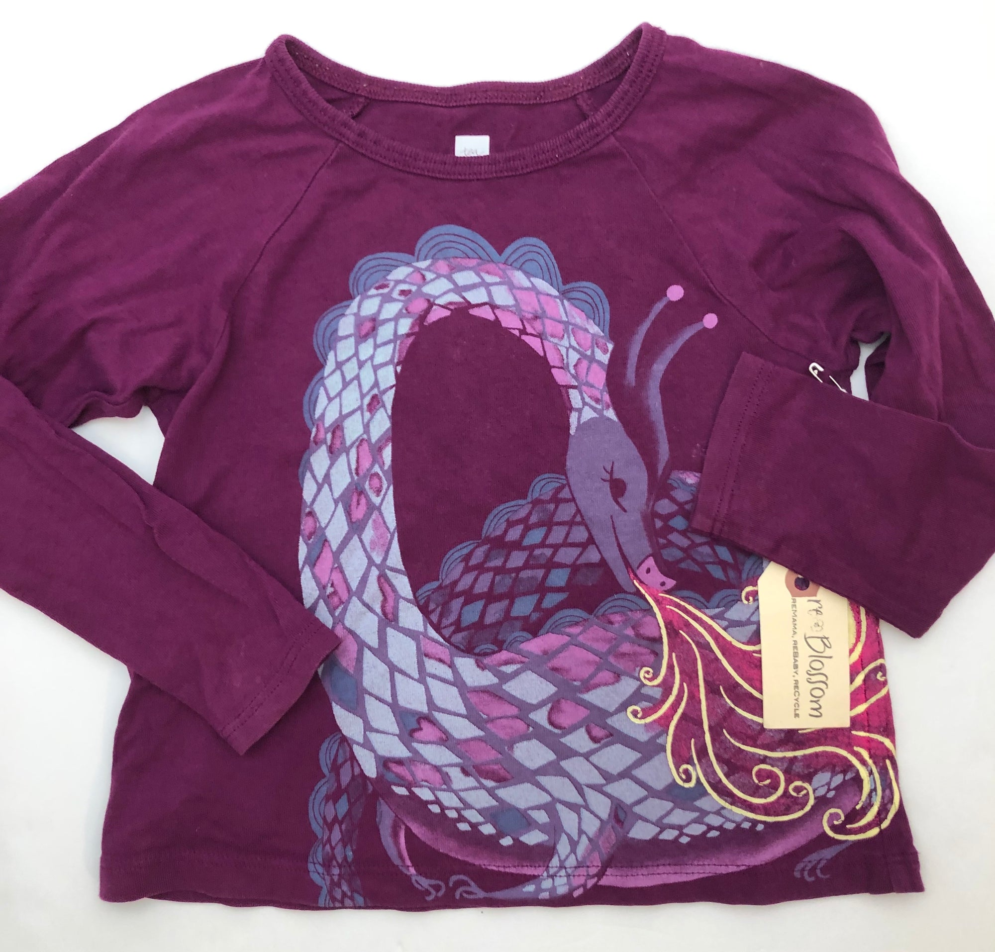 Resale Size 3T Tea Collection Plum Dragon Fairy Shirt