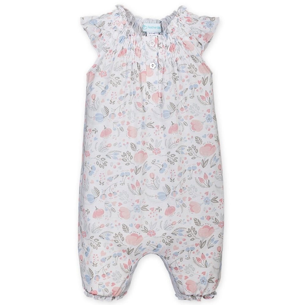 Feather Baby Angel Sleep Romper - Caroline Floral