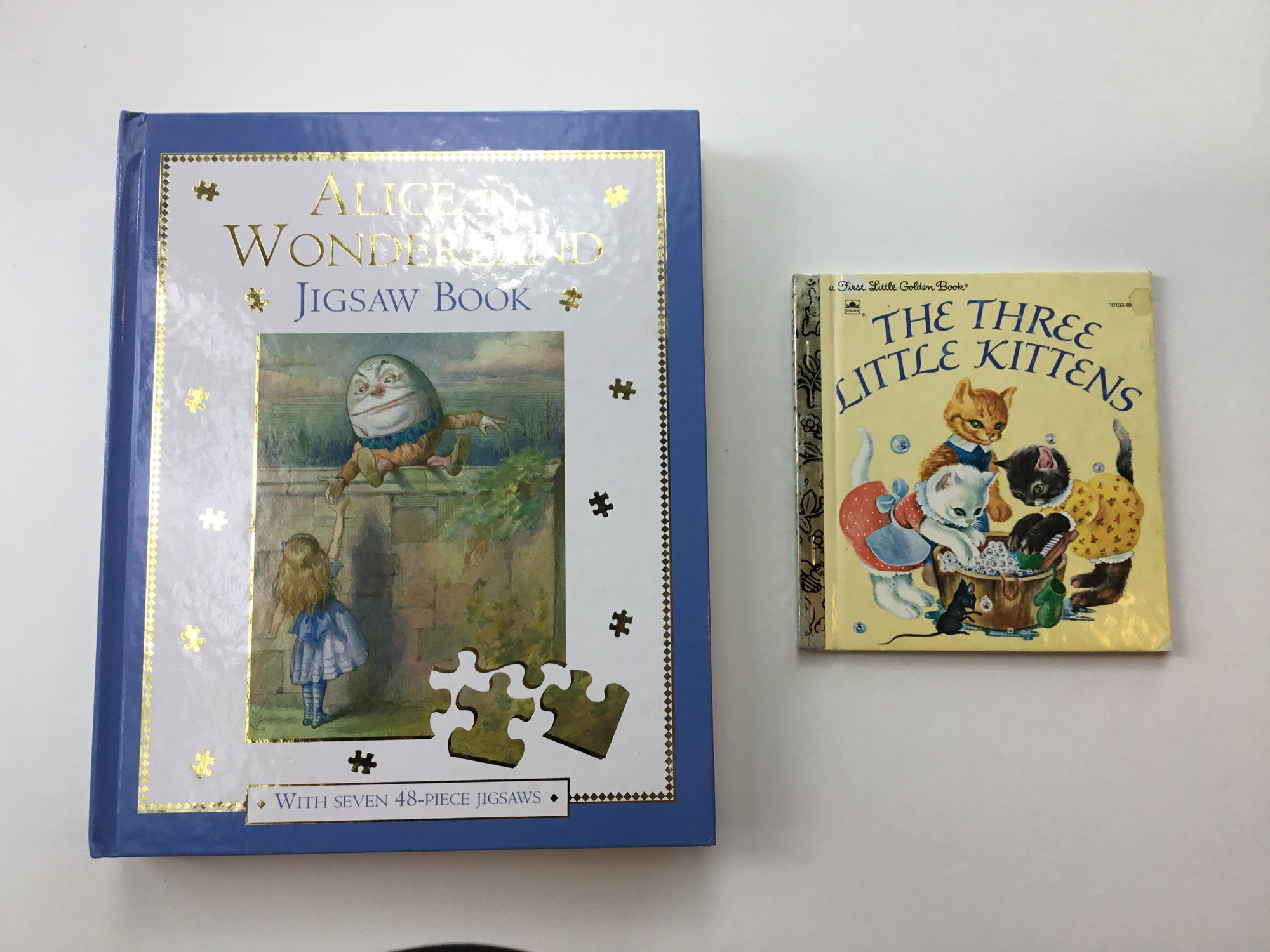 Resale Alice in Wonderland 7 Puzzle Book Bundle