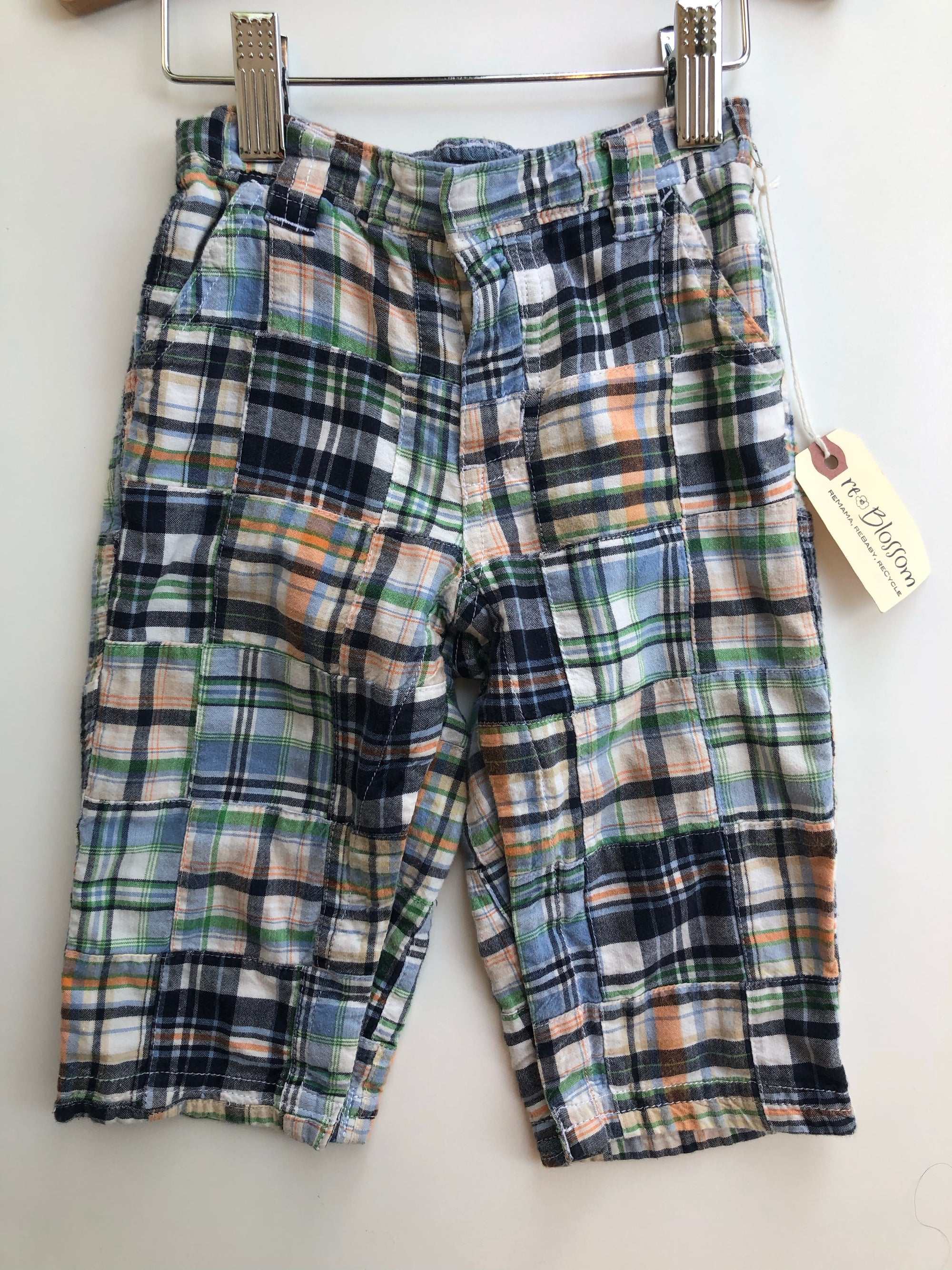 Resale 12-18 m Gap Patchwork Plaid Pants