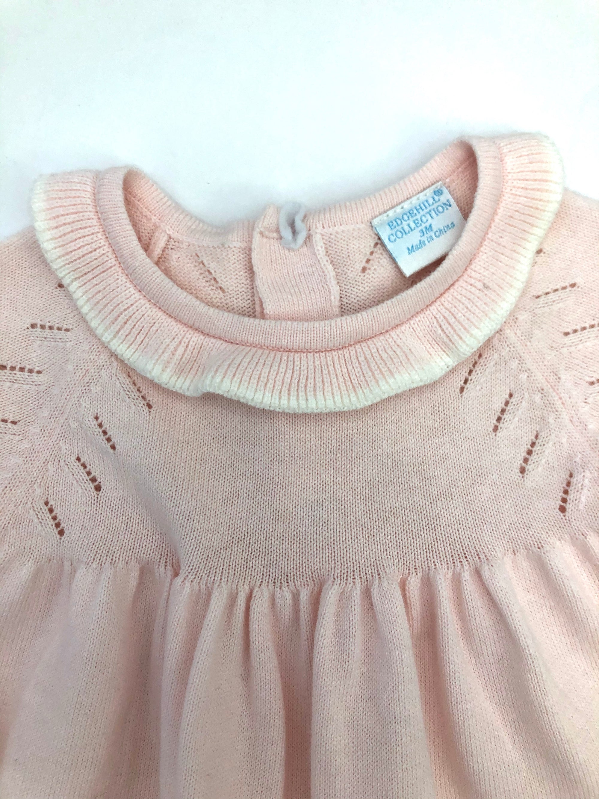 Resale 3 m Edgehill Collection Pink Sweater Dress and Bloomers