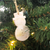 Ornaments for Orphans Cow Horn Snowman Ornament