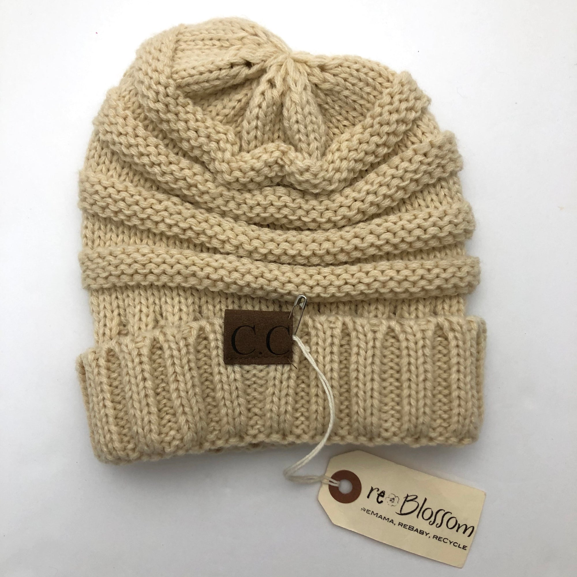 Resale 2-7y CC Crocheted Cream Beanie