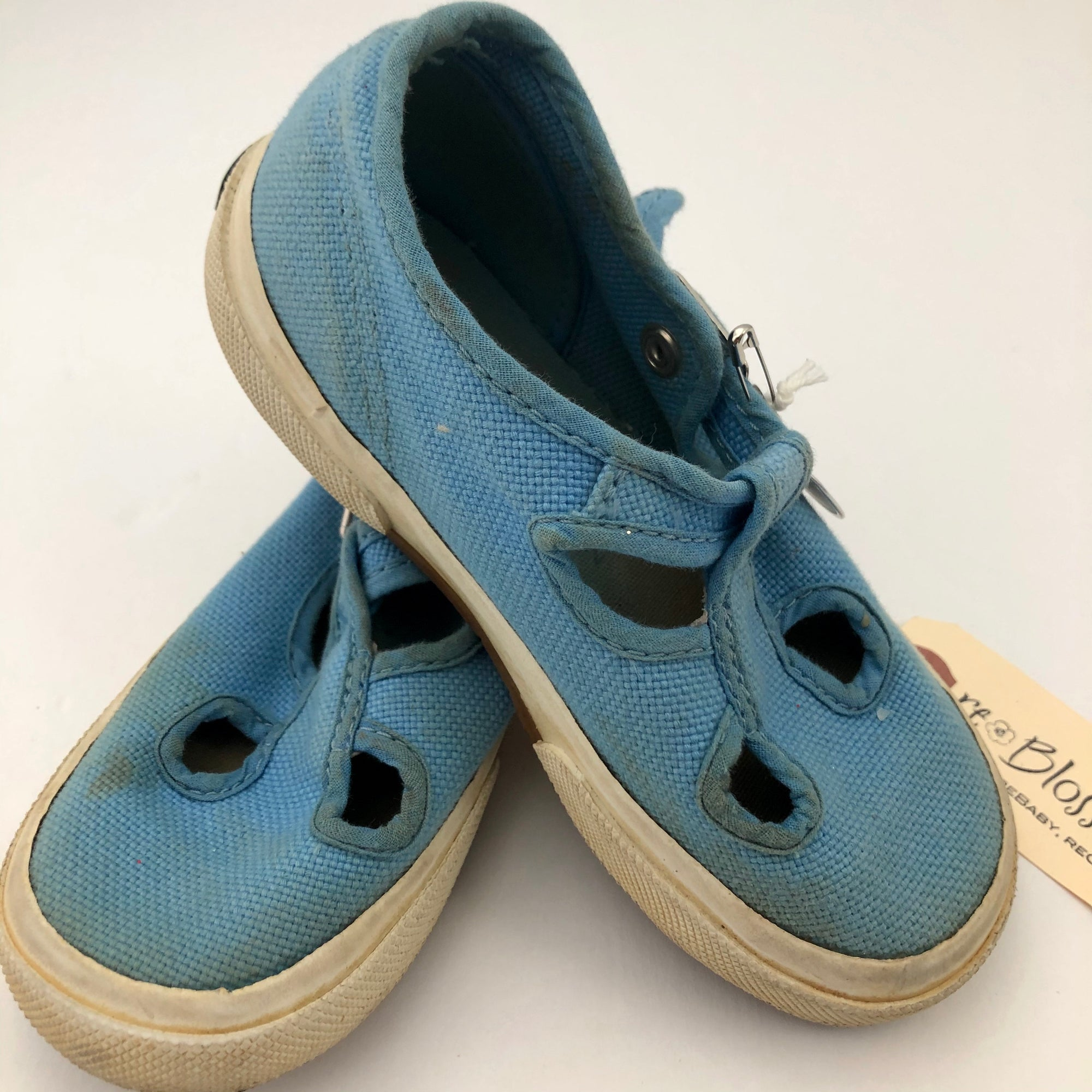 C11 SuperGa Baby Blue T-Strap Canvas Shoes