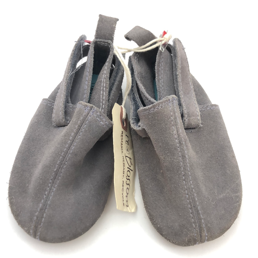 Resale 18 m Zutano Grey Leather Side Velcro Closure Softer Sole Shoes