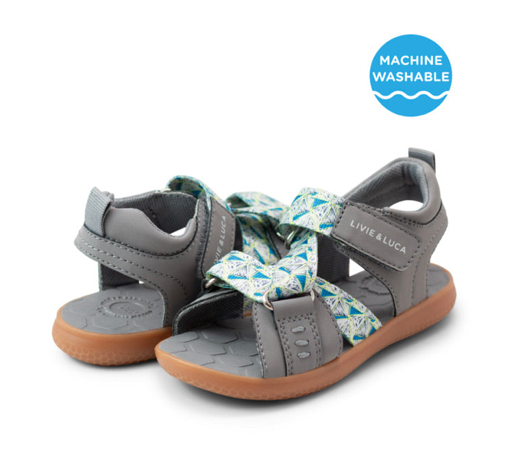 Livie & Luca Ziggy Water-Friendly Sandal - Gray