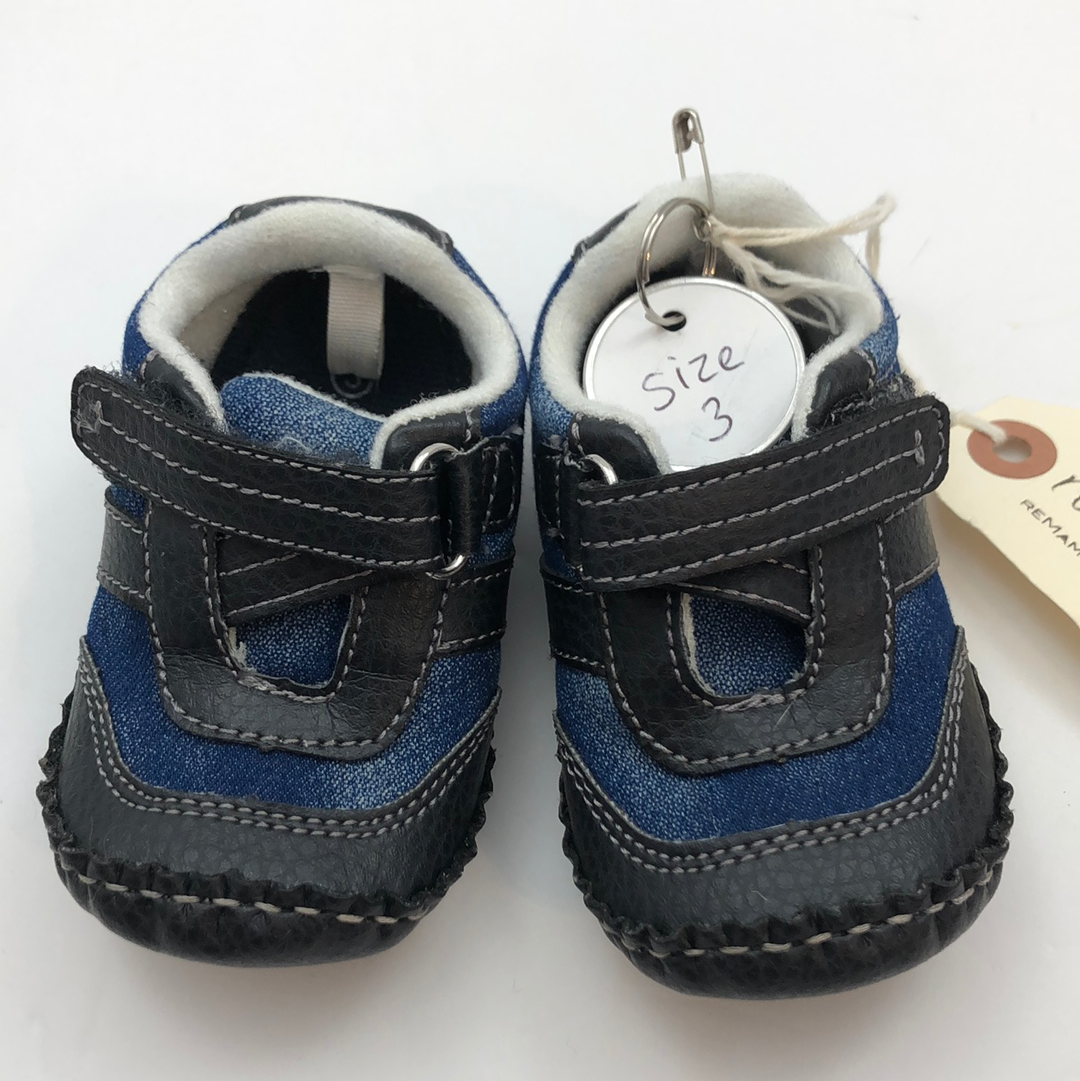 Resale C3 Koala Baby Black & Blue Shoes