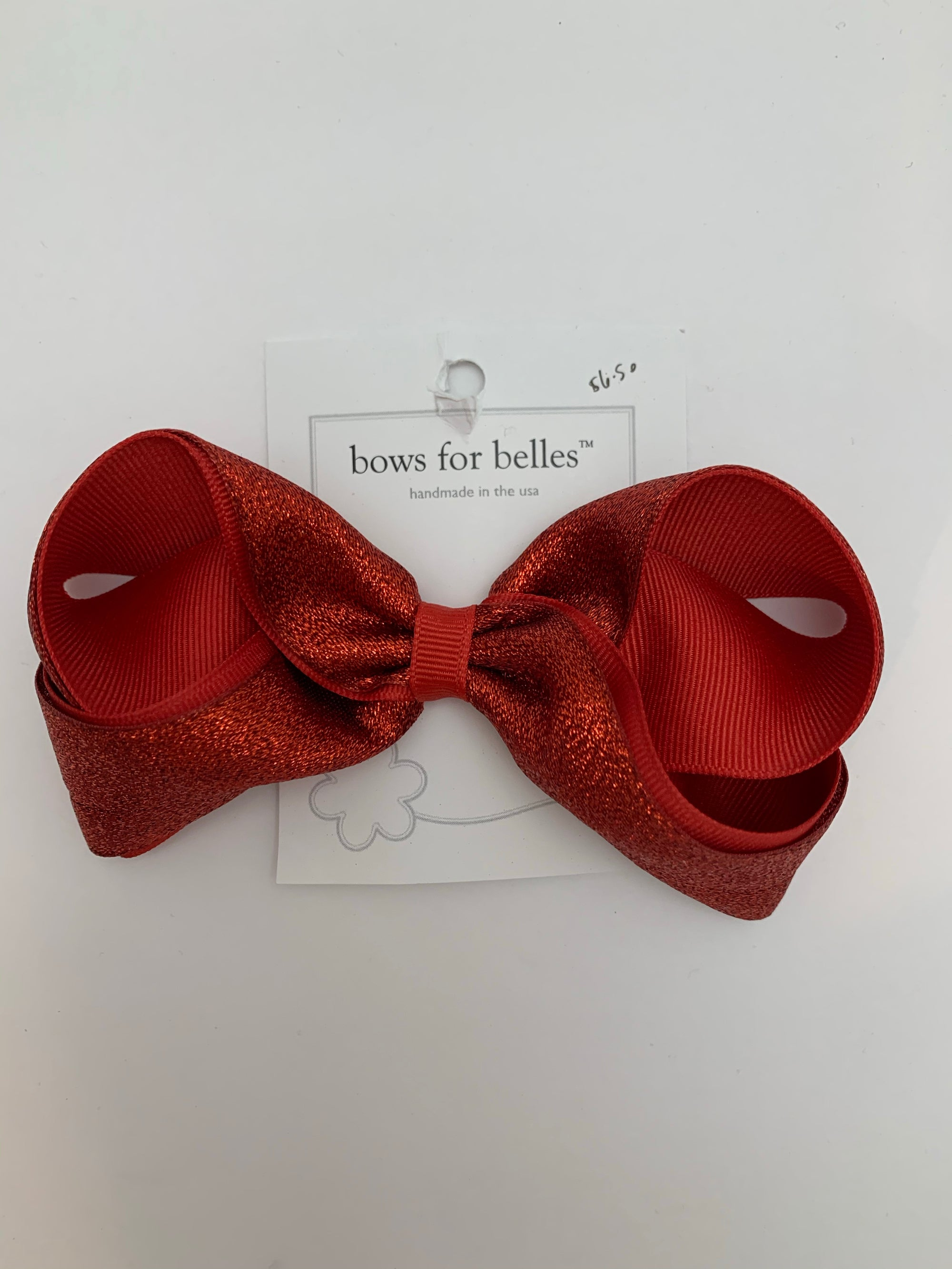 Bows for Belles Large Red Sparkle Bow