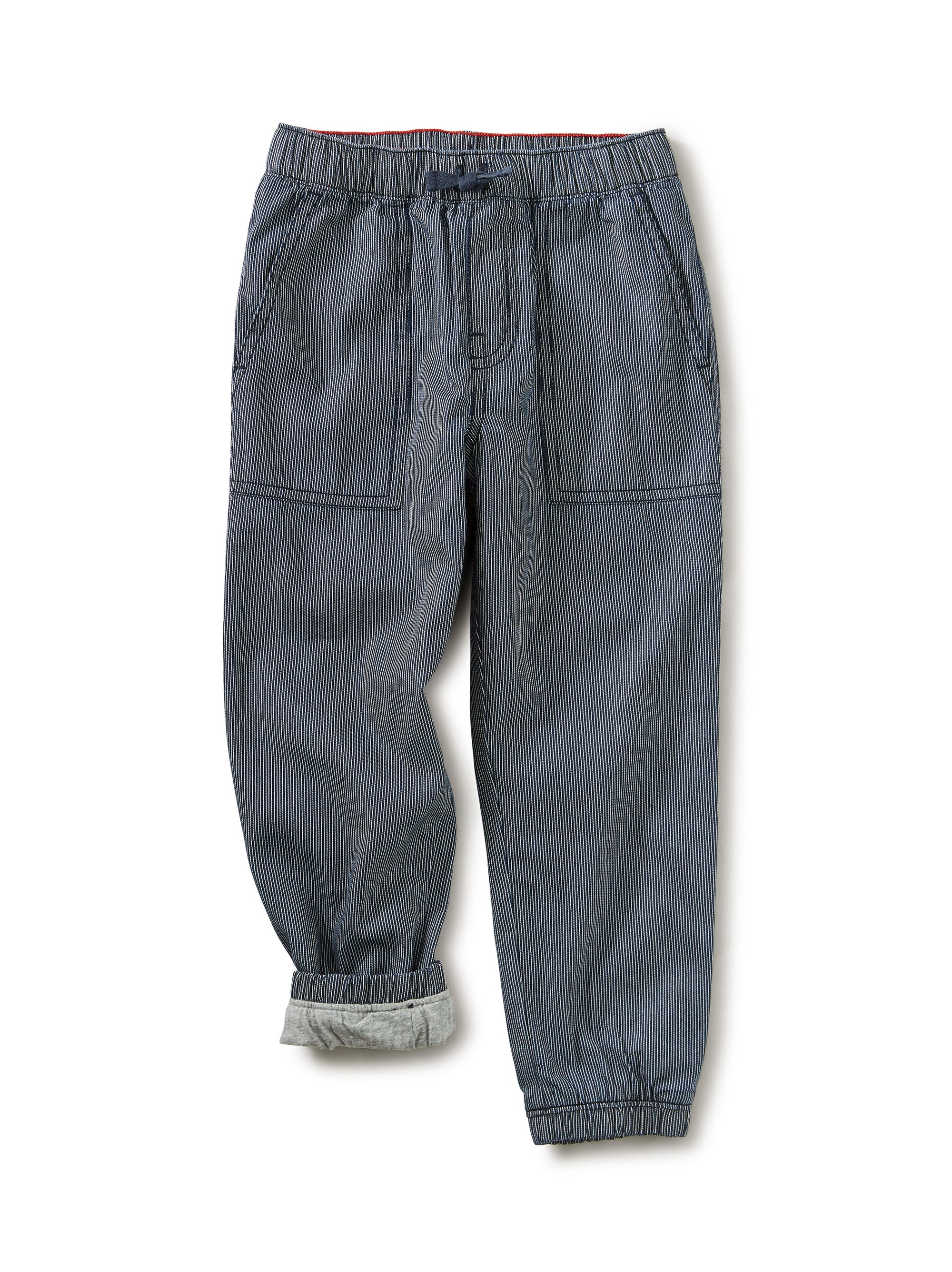 Tea Collection Railroad Stripe Lightweight Lined Jogger Pant