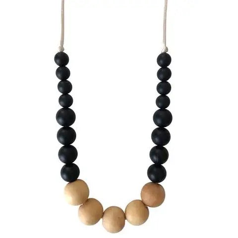 Chewable Charm The Landon Teething Necklace - Black