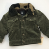 Resale 12 m Art Class Green Lined Corduroy Jacket with Fleece Collar