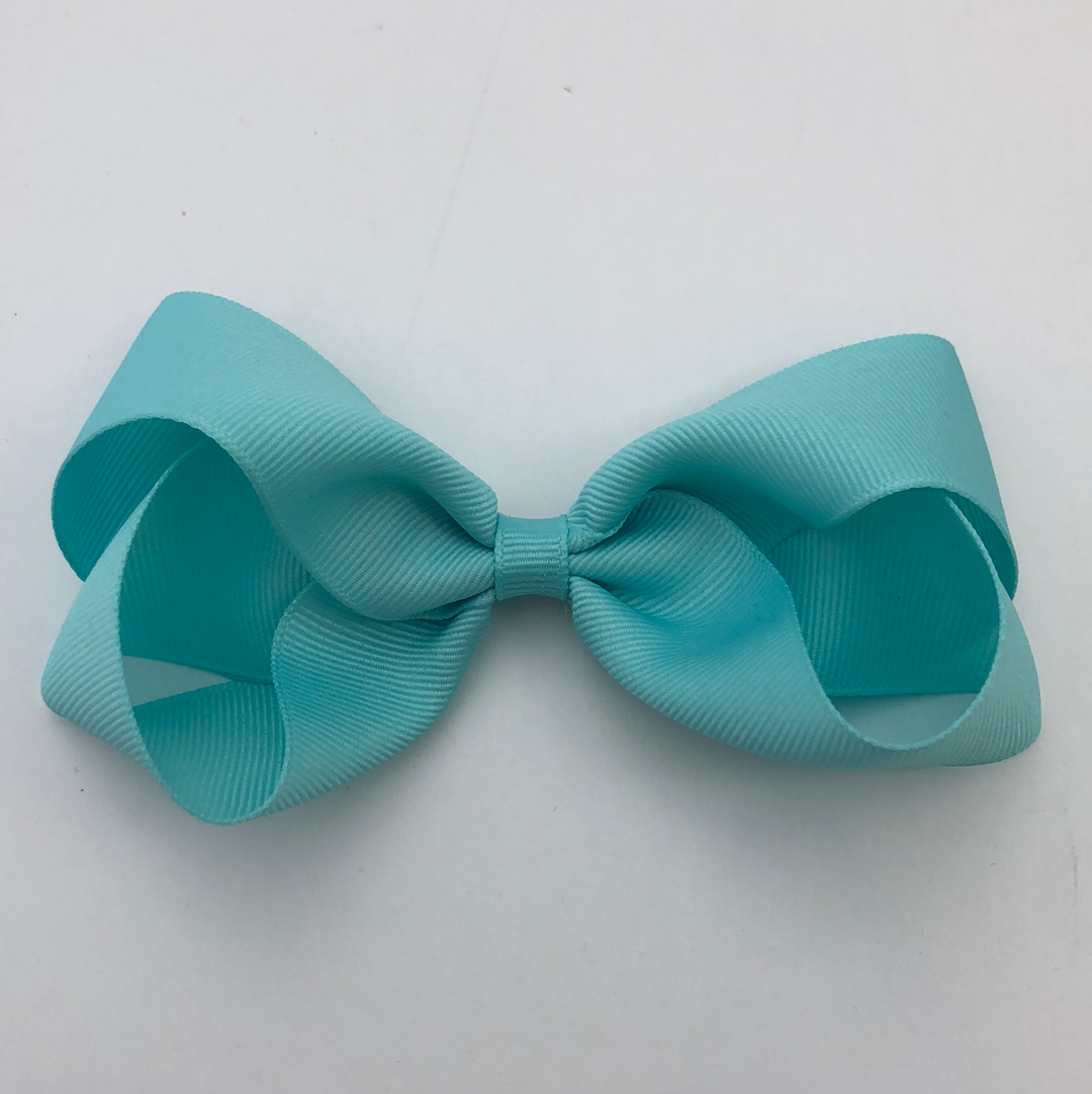 Bows for Belles Large Solid Bow - Aqua