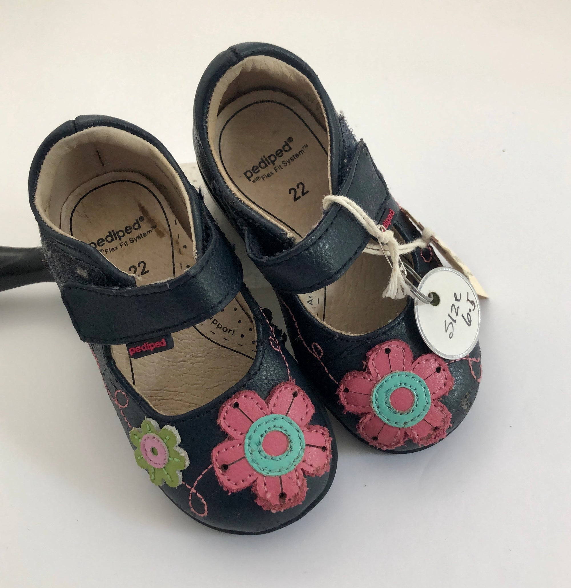Resale C6 or C6.5 Pediped Floral Mary Jane Shoes