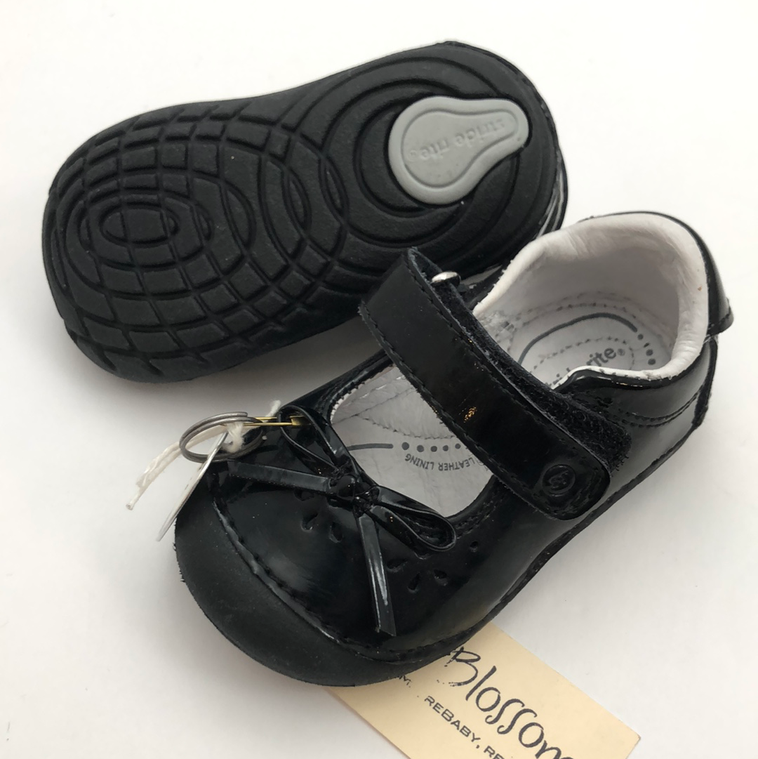 C3.5 Stride Rite Soft Motion Patent Leather Black Mary Jane Shoes