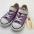 Resale C8 Converse Purple Velcro Shoes