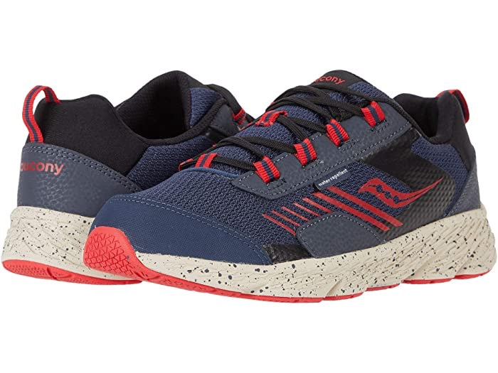 Saucony Wind Shield Navy/Red Youth - Laces