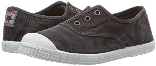 Cienta Distressed Laceless Canvas Sneaker, 70777 - Negro / Washed Black