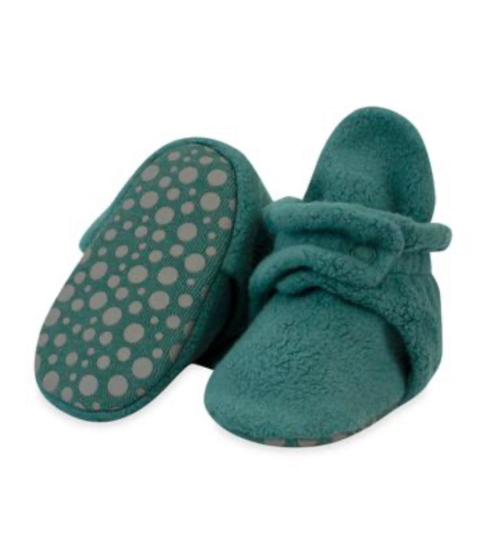 Zutano Cozie Fleece Gripper Booties - Fern