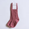 Little Stocking Co. Cable Knit Knee High Socks - Mauve