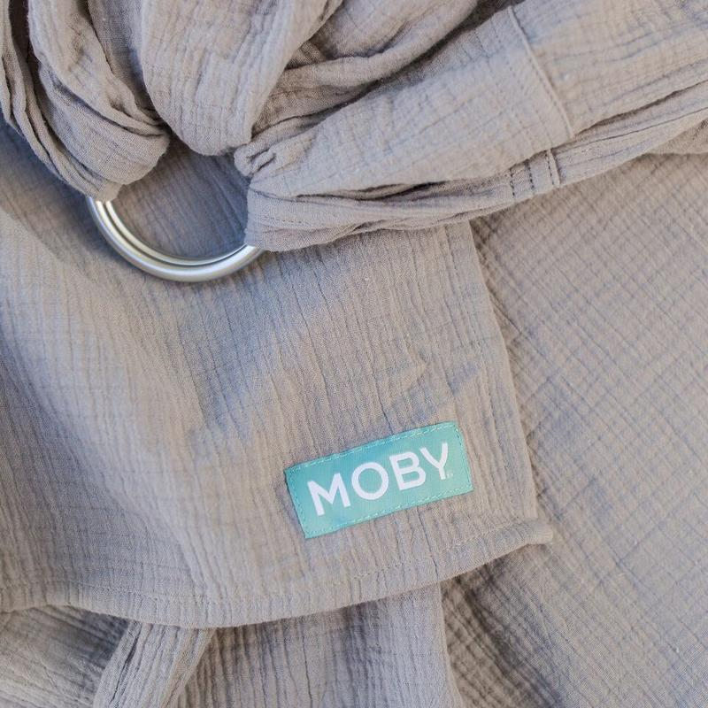 Moby Ring Sling - Double Gauze - Pewter