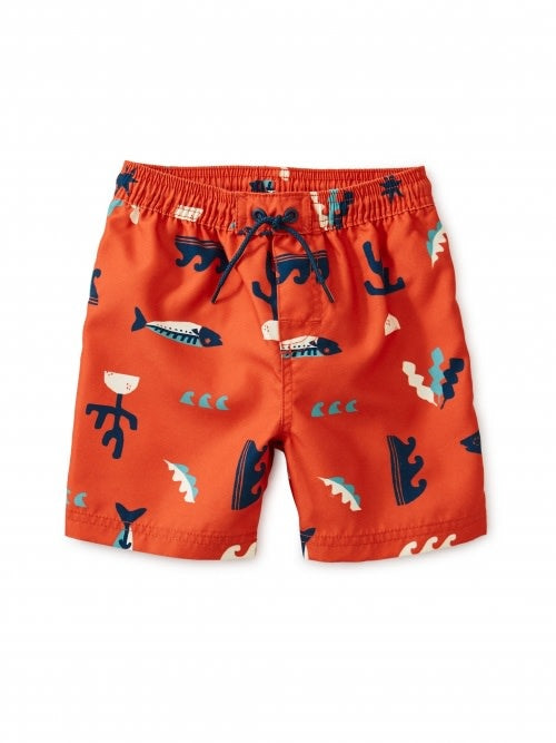 Tea Collection Printed Swim Trunks - Under the Sea