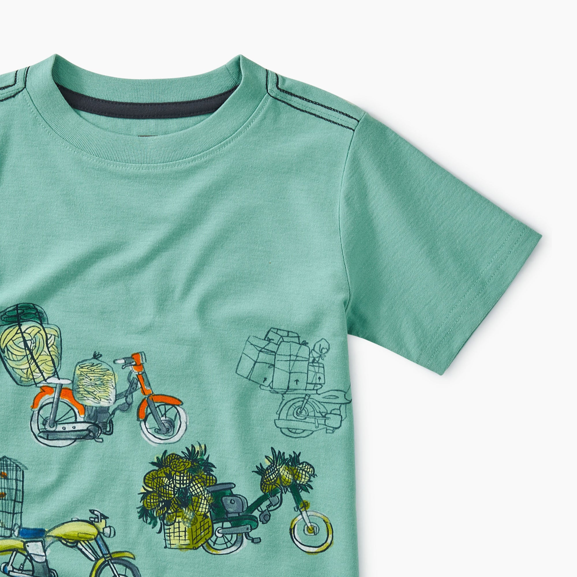 Tea Collection Scooter Traffic Graphic Tee - Albacore