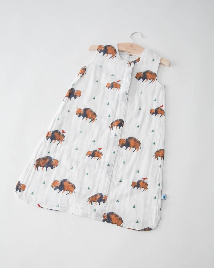 Little Unicorn Cotton Muslin Sleep Bag - Bison