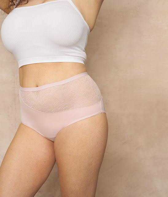Saalt Elemental High Waist Brief Period Underwear - Rose Quartz