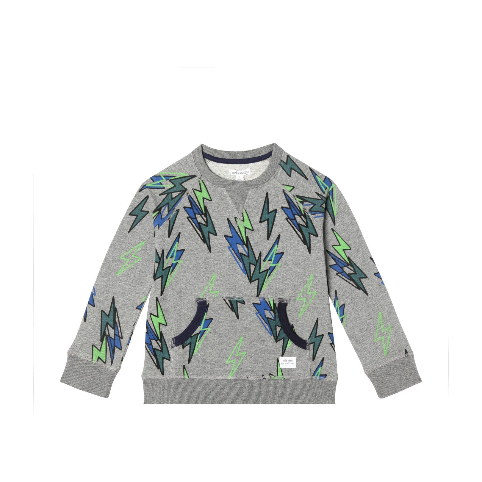 Art & Eden Organic Cotton Eli Crew Neck - Lightning