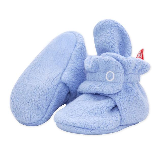 Zutano Cozie Fleece Booties - Light Blue