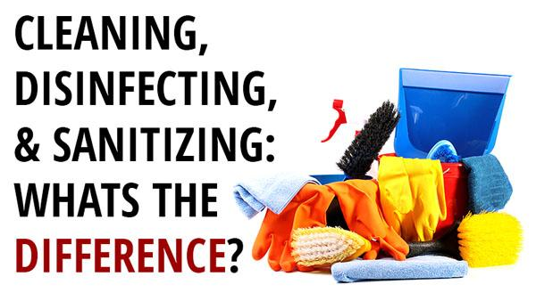 Difference between Cleaning, Sanitizing and Disinfecting