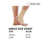 size chart for ankle support