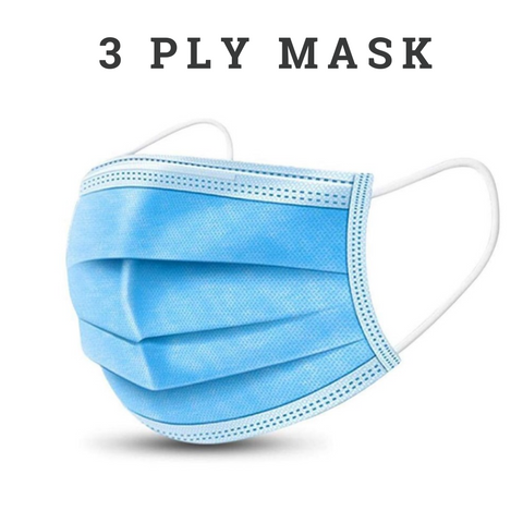 3 ply face mask with nose pin in chennai