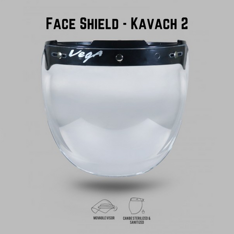 Vega Face Shield - Reusable Face Protector Shield