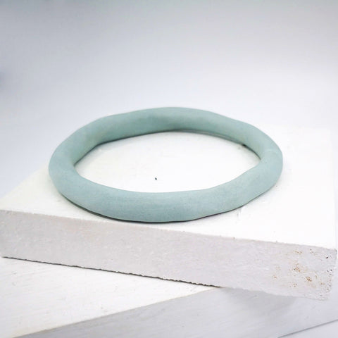 Porcelain bangle in pale blue by Angela Francis