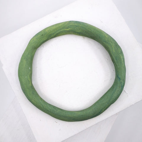 Porcelain bangle in green by Angela Francis
