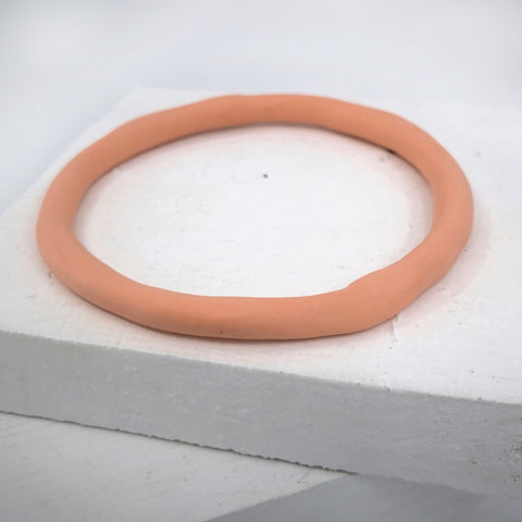 Porcelain bangle organic and peach by Angela Francis