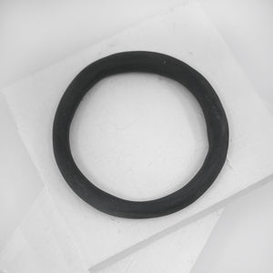 Porcelain bangle organic and dark grey by Angela Francis