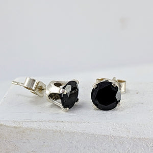 Black Onyx Studs by Buster Collins