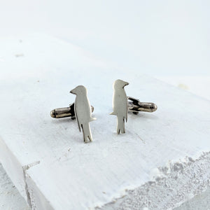 Raven Cufflinks  - Silver by Buster Collins