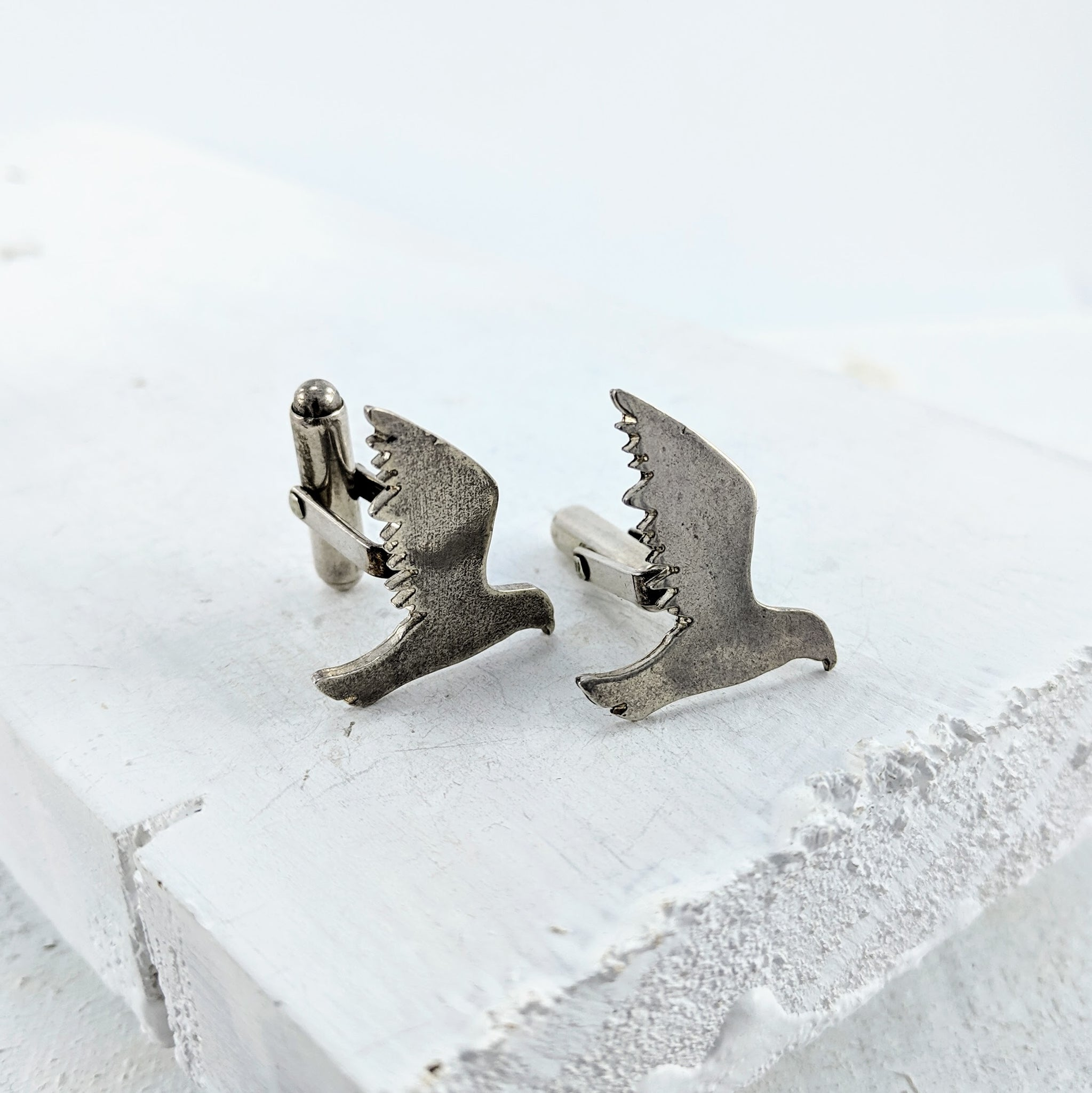 Kaka Cufflinks  - Oxidised Silver by Buster Collins