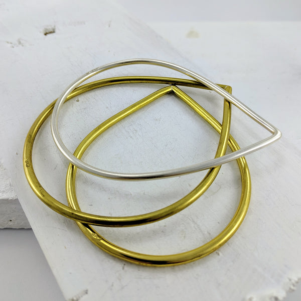 Tear Drop Bangles by Buster Collin