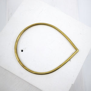 Large brass Tear Drop Bangle by Buster Collin