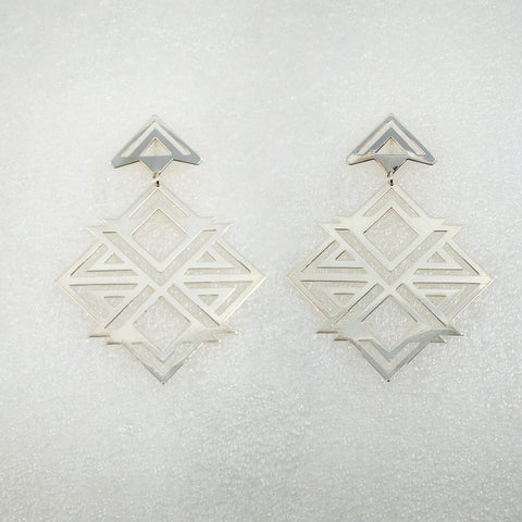 X-Box Earrings in Silver Plate by Banshee The Valkyrie, Big Boss Bitch Earring Collection.